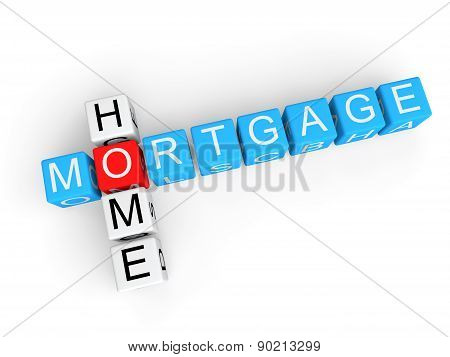 Home mortgage 3d cubes