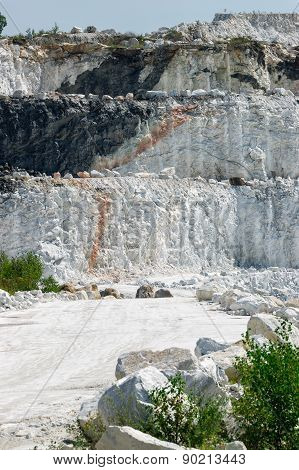 Three Layers Of Cliffs At Marble Mine