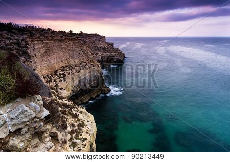 High Rocky Coastline With Nice View