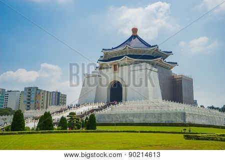 Chiang Kai-shek Memorial Hall, the famous landmark and must see attraction in Taipei.