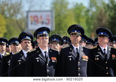 Orel, Russia - May 09, 2015: Celebration Of The 70Th Anniversary Of The Victory Day (wwii). Military