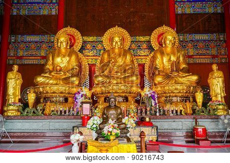 Buddha Image In Chinese Temple