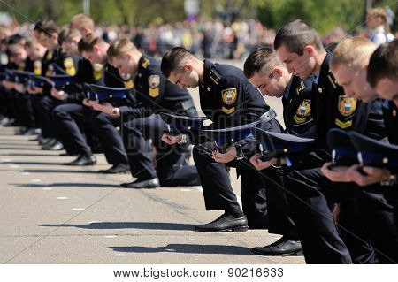 Orel, Russia - May 09, 2015: Celebration Of The 70Th Anniversary Of The Victory Day (wwii). Russian