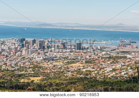 View Of Cape Town Central Business District And Harbor