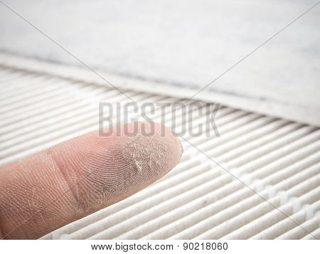 Dust On Finger