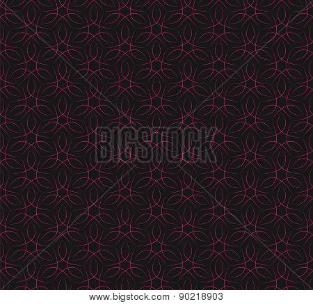 Seamless red vine line pattern background