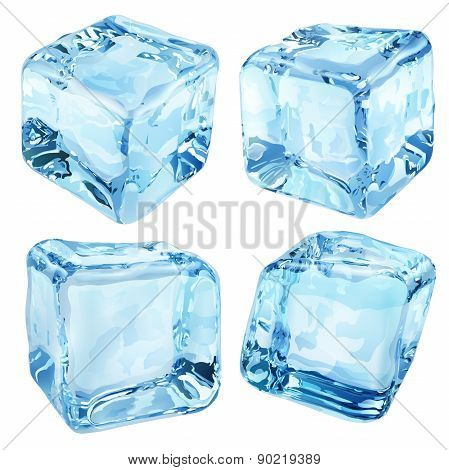 Opaque Blue Ice Cubes