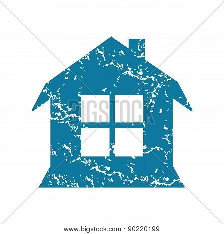 House with window grunge icon