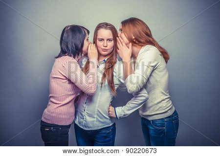 three female  woman woman  friends girl gossip rumors surprise s
