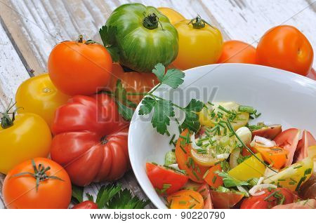 Tomatoes Salad With Assortment