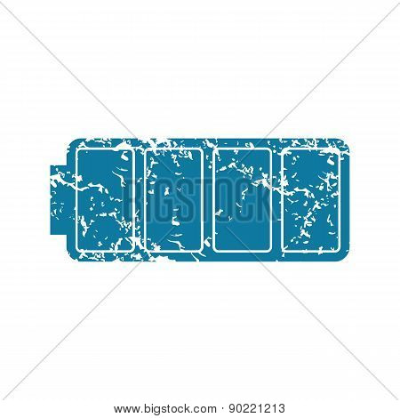 Full battery grunge icon
