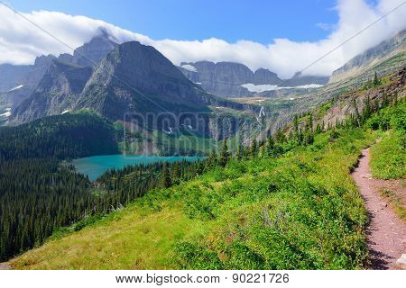 Trail To Grinnell Glacier In Glacier National Park