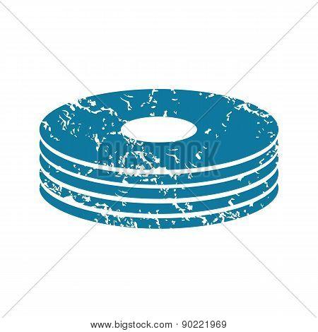 Disc pile grunge icon