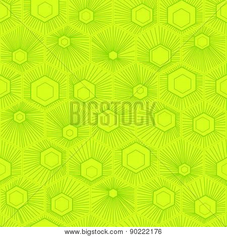 Vector Honeycomb Pattern Green