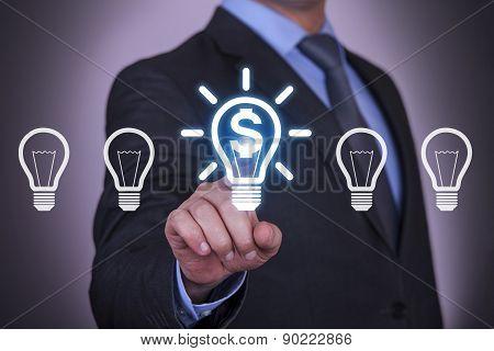 Business Finance Idea Light Bulb