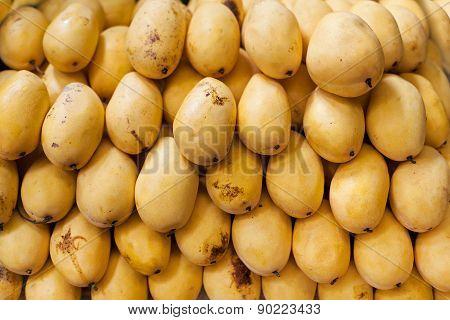 Background Of Mango Fruit, Selective Focus