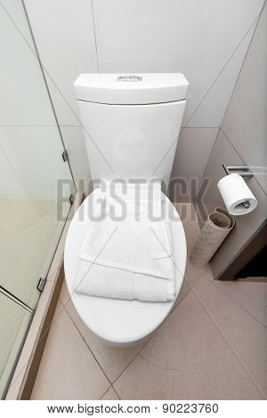 White Toilet In A Bathroom