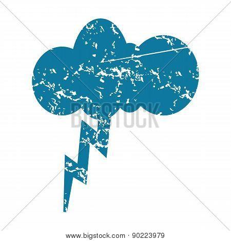 Thunderstorm grunge icon