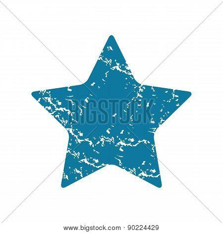 Star grunge icon