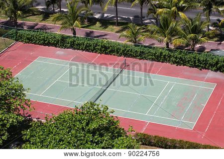 Outdoor  Tennis Court, Aerial View