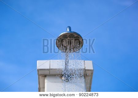 Water Pouring From Shower