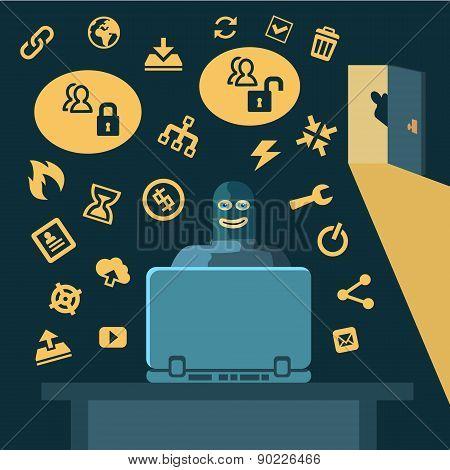 Hacker breaks into computer