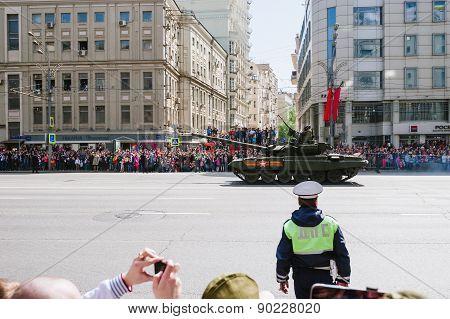 MOSCOW-MAY 9, 2015: Victory parade