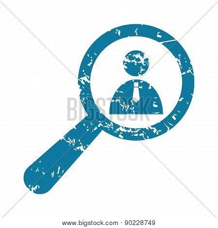 Grunge user details icon