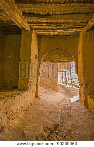 Tafilalt oasis in Morocco - inside Tinrheras ksar