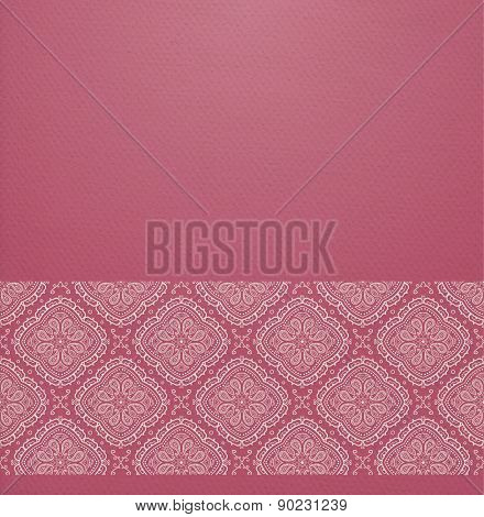 Background With Ornamental Border