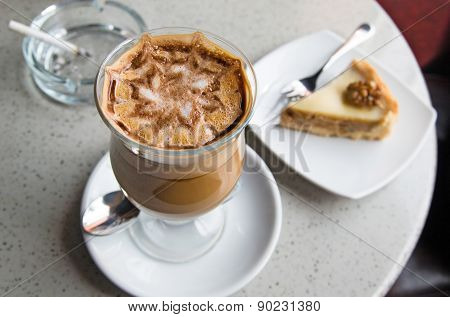 Glass of coffee moccoccino