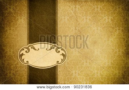 Grunge Paper Background With Frame.
