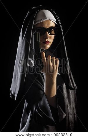 Nun With Handgun