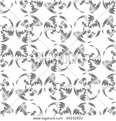 Dotted seamless pattern with circles. Repeating modern stylish geometric background. Simple abstract
