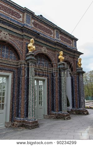 Golden Statues And Beautiful Stones At Eremitage, Old Palace In Bayreuth, Germany, 2015
