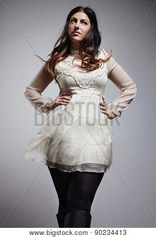 Dreaming Plus Size Woman