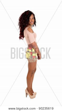 African Woman In Skirt.