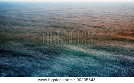 Sea Wave With Sun Flare