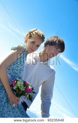 Nice Young Wedding Couple