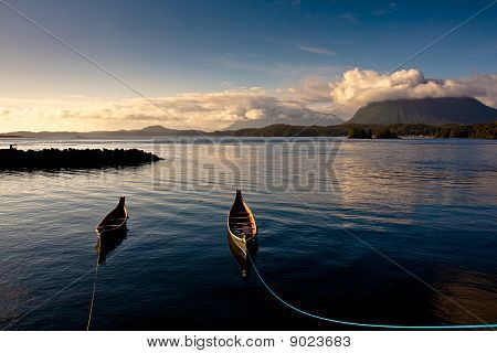 The afternoon of Tofino harbor