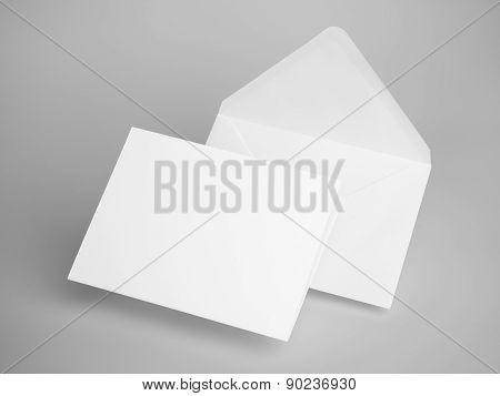 White envelope letters. 3d rendering