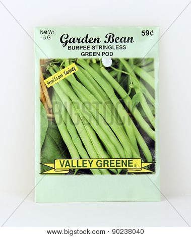 Package Of Valley Greene Bean Seeds