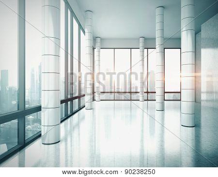 Office interior. 3D rendering.