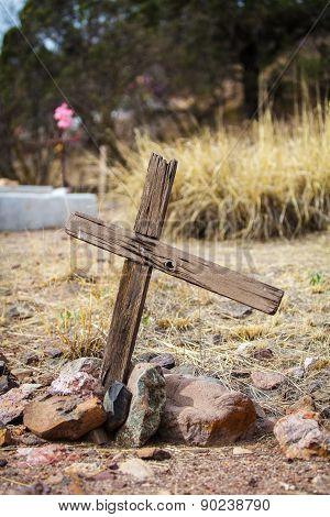 Uneven Wooden Crucifix