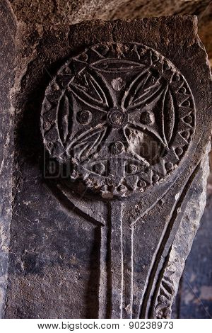 Cross In Cappadocia Church