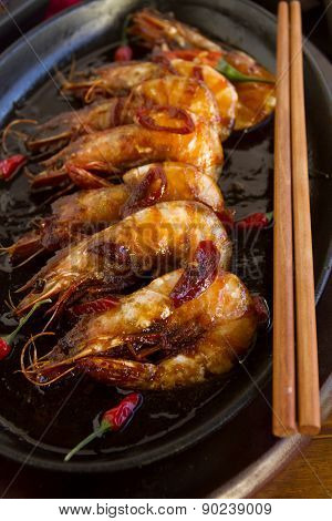 Sizzling Asian Prawns