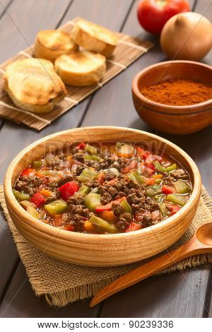 Vegan Goulash with Soy Meat