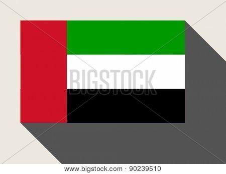 United Arab Emirates flag in flat web design style.