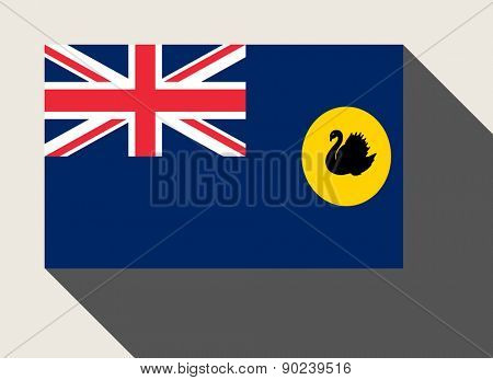 State of Western Australia flag in flat web design style.
