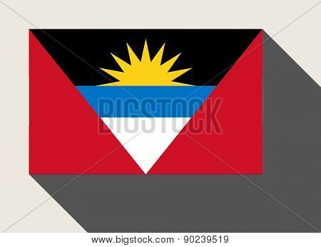 Antigua and Barbuda flag in flat web design style.